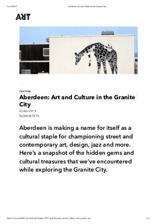 Aberdeen: Art and Culture in the Granite City by Sandy Di Yu, originally published on ArtRabbit